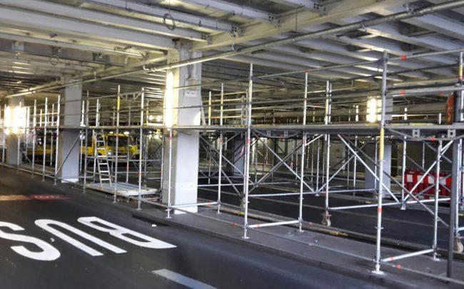 Raumgerüst Düsseldorf Flughafen Gerüstbau Kaiser