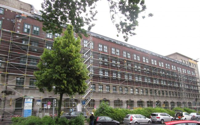 Fassadengerüst Essen Deutsche Post Gerüstbau Kaiser