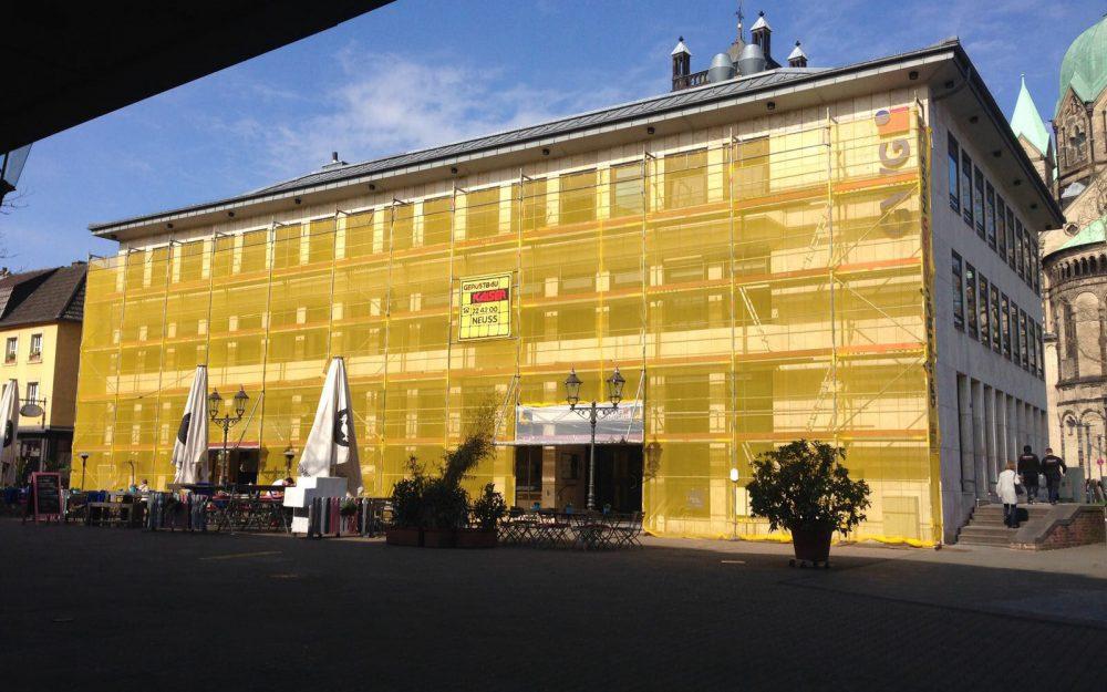 Fassadengerüst Neuss Markt 36 Gerüstbau Kaiser