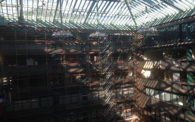 Innengerüst Mönchengladbach Zentrale Sparkasse Gerüstbau Kaiser