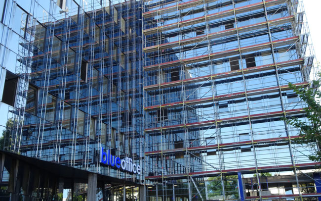 Buerohaus Fassadengeruest Düsseldorf